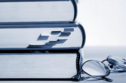 photo of books and glasses